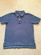 BOY'S SIZE M (10-12) POLO BY RALPH LAUREN YELLOW POLO TOP WITH NAVY LOGO RRP £85