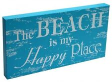 "Sign ""The Beach Is My Happy Place"" New Beach Decor Marine Theme Nautical"