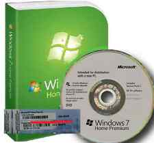 Windows 7 Home Premium 64Bit SP1 - 1 COA License Key - Hologram DVD