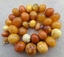 Genuine Baltic Amber Old Roun Ball necklace bead Rare Round natural vintage 65 g