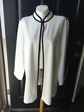 New Chicos Black White Chelsea Colorblock Ottoman Jacket Sz 3 = 16/18 NWT
