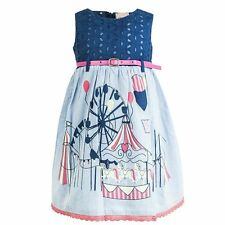 Chloe Louise Designer Girls Circus Fairground Carousel Dress Belt age 2-3 years