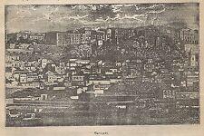 A0764 Cagliari - Veduta - Stampa Antica del 1911 - Xilografia