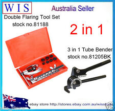 10 Pcs Brake & Air Line Double Flaring Tool Kit Set Tool with 3 in 1 Tube Bender