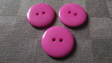 6 BOUTONS ROSE VIF  23 mm * 2 trous * button sewing neuf lot 2,3 cm Pink fushia