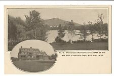 Vintage Postcard Marlboro NH Monadnock Mountain Paul Leicester Ford Estate UDB