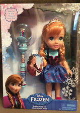 "Disney FROZEN 12.5"" Toddler ANNA Doll & Musical Snow Wand Set First Time"
