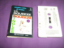 UK SQUEEZE - SINGLES 45'S AND UNDER - AUSTRALIAN CASSETTE TAPE - U.K.