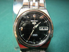 SEIKO 5 MEN'S 21 JEWEL AUTOMATIC WATCH SNK669K1 (BLACK)