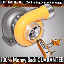 """YELLOW GT45 Turbo 600+HP T4/T66 3.5"""" V-BAND 1.05 A/R 92 TRIM+Boost Controller"""