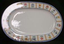 VILLEROY & BOCH china JULIE pattern Oval Meat Serving Platter @ 16""