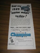 1949 Print Ad Champion Outboard Motors Motor Magic Minneapolis,MN