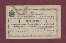 GERMAN EAST AFRICA 1 RUPIEN 1916 EF+ RARE TANZANIA WEST GERMANY