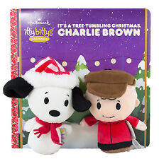 Hallmark Itty Bitty Peanuts Snoopy & Charlie Brown Christmas Tree Story Book