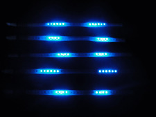 "12"" LED Blue Scanner Knight Rider Light Strip for Car motorcycle Home Decoration"