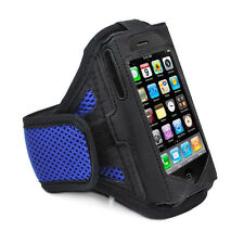 iPhone 4 4S BLUE Strong ArmBand Case Cover For SPORTS GYM BIKE JOGGING RUNNING