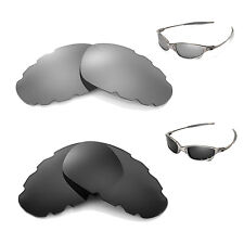 New Walleva Polarized Black + Titanium Vented Lenses For Oakley Juliet