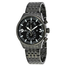 Invicta II Black Ion Plated Stainless Steel Mens Watch 0367