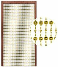 Hanging Beaded Door Curtain Gold 80x180cm Glamorous Disco Ball Home Decor New