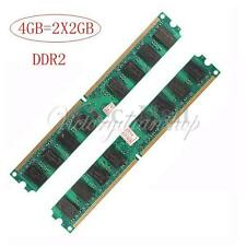 4GB(2X2GB) DDR2 PC2-5300 DDR2-667 MHZ DESKTOP 240 PIN PC2-5300U Memory RAM
