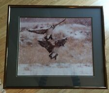 """Rare 1977 Thomas D. Mangelsen LE Signed """"Canada Geese and Snow"""" 283/500"""