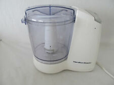 HAMILTON BEACH FOOD PROCESSOR GRINDER MODEL 72600 WHITE 3 CUP WORKS GREAT!!