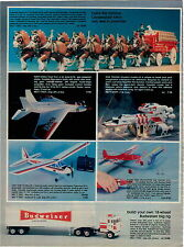 1979 ADVERT Toy  Budweiser Clydesdale 8 Horse Bud the Dog Cox Navy Eagle Plane