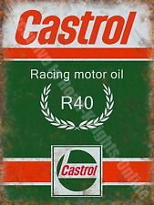 Castrol R Racing Motor Oil, 135 Petrol Old Vintage Garage, Large Metal/Tin Sign