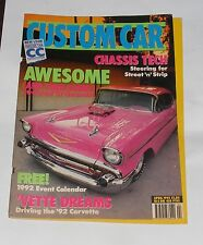 CUSTOM CAR MAGAZINE APRIL 1992 AWESOME (AND THEN SOME!) STRETCHED '57 CHEVROLET