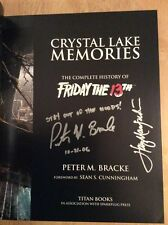 SIGNED x6 Crystal Lake Memories Friday The 13th HC 1st/1st Pic Bracke Manfredini