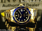 Invicta Men's Pro Diver Blue Dial 18K Gold Plated Stainless Steel Watch