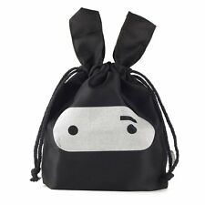Adorable Ninja Rabbit Pouch Travel Lunch Laundry Storage Drawstring Tote Bag