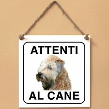 Soft Coated Wheaten Terrier 2 Attenti al cane Targa piastrella cartello sign dog