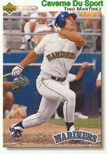 554 TINO MARTINEZ SEATTLE MARINERS  BASEBALL CARD UPPER DECK 1992