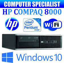 FAST WINDOWS 10 HP COMPAQ 8000 COMPUTER DESKTOP PC INTEL DUAL CORE 4GB RAM WiFi