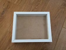Shadow Deep Box, Wooden Picture / Photo Frame - NEW 12x10 inch - WHITE