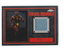 WWE Big E 2014 Topps Chrome Event Used Royal Rumble Mat Relic Card DWC