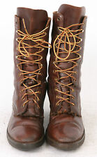 Brown Leather Mens size 10 US 11 LACE UP Western RIDING Ankle Vintage Used Boots