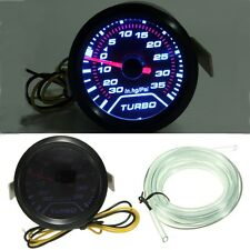 52MM 2″ WHITE LED CAR TURBO BOOST PRESSURE GAUGE METER SMOKED LEN DIALS FACE PSI