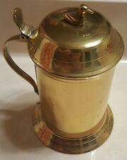 Gold Lacquered Metal Lidded Beer Stein Mug Handle Duck  made in India