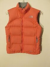S7276 The North Face Girls Medium Pink Full Zip Down Puffer Vest