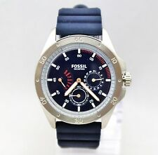 New Fossil CH3062 Chronograph Sport 54 Blue Silicone Band Men  Watch