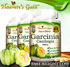 GARCINIA CAMBOGIA EXTRACT ORGANIC WEIGHT LOSS DIET 1000mg 100% PURE  3 BOTTLES*