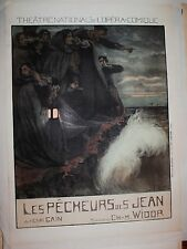 1906 French Poster Theatre National de L'Opera-Comique Les Pecheurs de St. Jean