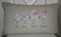Personalised Laura Ashley Natural Austin Cushion Cover with Cath Kidston Design