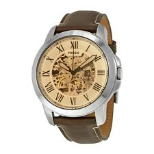 FOSSIL MEN'S Watch GRANT Chronograph Automatic Dark Brown leather Strap ME3122