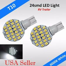 20 x T10 921 194 W5W RV Trailer Interior 12V 24SMD LED Light Bulbs - White