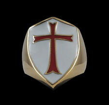 Bronze Crusader Cross Knights Templar Ring-Any Size-Free Shipping