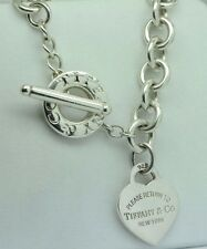 "Tiffany & Co. (c) Return to Tiffany Heart Tag Toggle Necklace (16"")"