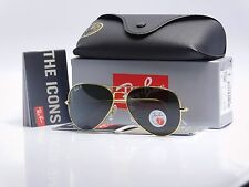 RAY BAN AVIATOR Gold Large Metal RB3025 001/ 58mm POLARIZED GREEN Lenses